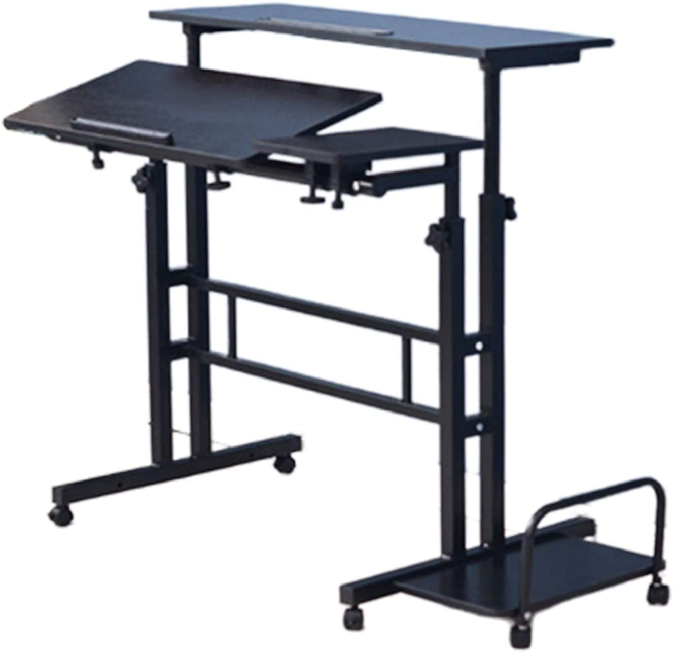 XHWine Mobile Inexpensive Standing Opening large release sale Desk Height Angle Up Stand Adjustable