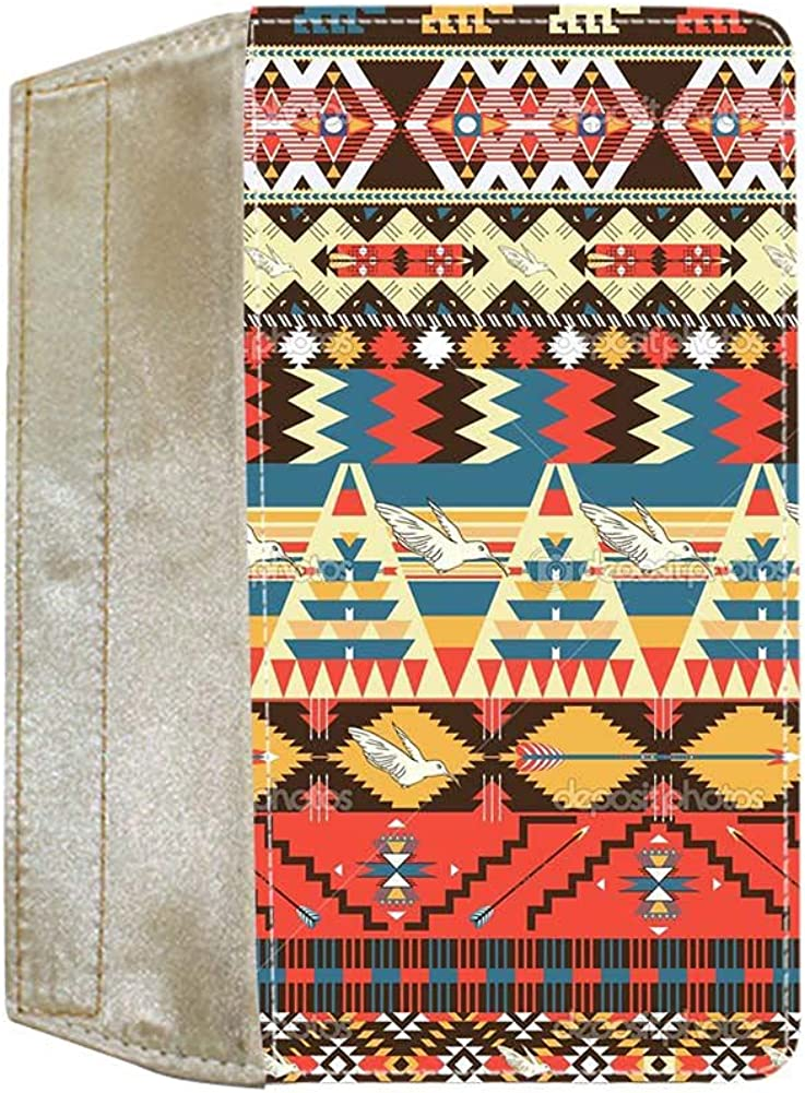 For Women Thin Compatible With Wallet Design Aztec Cotton