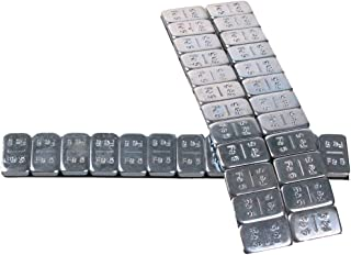 BB-EP Kleefgewicht – 4 repen à 60 gram (12 x 5 gr.) balanceergewicht – balanceergewicht voor aluminium velgen zilver-glanz...