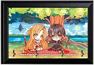 SOA Kirito and Asuna Chibi Wall Plaque Key Holder Hanger Geeky Nerdy Pop Culture Home Decor 8