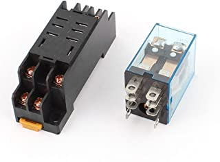 Baomain AC 12V Coil Power Relay 10A DPDT LY2NJ with PTF08A Socket Base