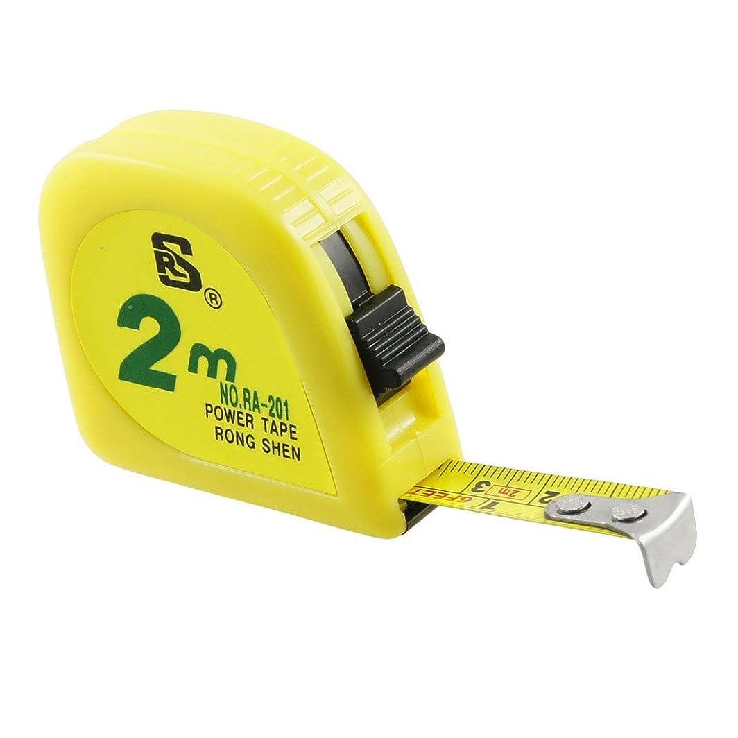 マイクロフォン適応する彼らは巻き尺,RONG SHEN黄色 2M 6FT テープメートル 測定テープ スケール金属カプセル
