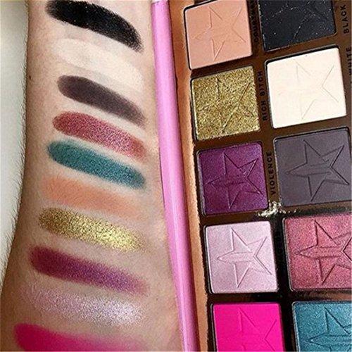 Honosu 10 Farben Lidschatten Palette Make-up Eyeshadow Kosmetik Profi Augenpalette