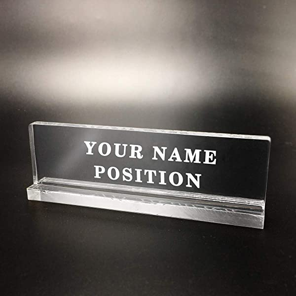 Personalized Custom Name Plate Plaque For Desk 7 Lenght A Class Acrylic Customized Office Metting Sign Teacher Sales Manager