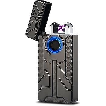 Pantheraa USB Doble ARC Touch bater/ía de Huellas Dactilares Mechero Resistente al Viento sin Llama Doble Arco Plasma el/éctrico Cigarrillo encendedores