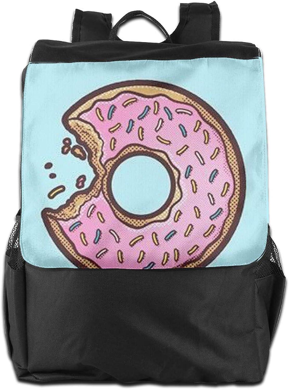 Sweet Doughnut Printed Girls Backpack Lightweight Casual Shoulder Bag School Bookbags