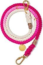 product image for Found My Animal Magenta Ombre Cotton Rope Dog Leash, Adjustable Large