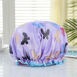 Dust Resistant Lined Shower Cap -Auma Bath Cap Designed for Women Spa, Waterproof Double Layer Shower Caps,Home Use, Hotel...