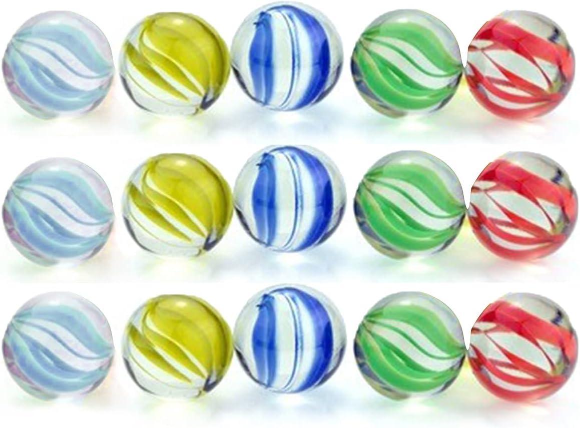 15PCS Marbles 0.6INCH for Kids Glas Color Beauty Large-scale sale products Bulk 5