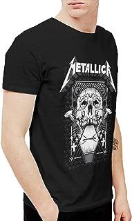 Mens Vintage Metallica Tee and Washed Denim Hat Casquette Black