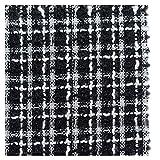 Tweed, karierter Stoff, Quiltstoff, weiß-schwarz, kariert,