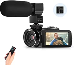 IEBRT Video Camera Camcorder,Digital Vlogging Camera for YouTube FHD 2.7K WiFi 36MP 16X Digital Zoom 3.0 Inch 270° Rotation Screen Video Recorder with Microphone Remote Control with Battery