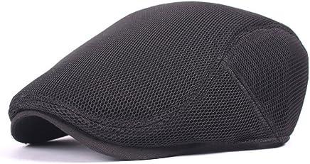 c1db7cc7b49 Roffatide Unisex Breathable Mesh Newsboy Cap Summer Flat Ivy Gatsby Driving  Hat