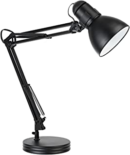 Globe Electric 5698601 Heavy Base Architect Desk Lamp, 33.86-Inch, Black Swing Arm