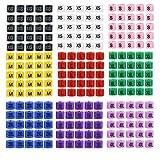 225 Piezas Percha mixta Perchas de tamaño Etiquetas de marcador Divisores de...