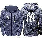 GMRZ Sudadera con Capucha para Hombre, Hoodie con Diseño Logo New York Yankees Sudaderas del Equipo Béisbol Grandes Ligas Camisetas Fans Amante Suéter con Capucha,C,L