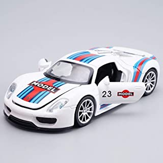 WEIWEI Realistic Toys 1:24 Scale Sports Car Model Kit Racing Model Pull Back Alloy Car Toy Static Collection Simulation De...