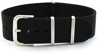 [カシス]CASSIS TYPE NATO ナトータイプ時計ベルト 20mm ブラック ファブリック時計ベルト #141.601S 019 020