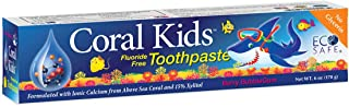 Coral White, Coral Kids Fluoride Free Toothpaste, Berry Bubblegum Flavor 6 oz (1 Pack)