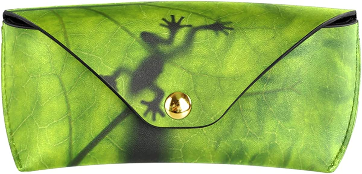 Portable Leaf Snake Frog Goggles Bag PU Leather Wallet Sunglasses Case Eyeglasses Pouch Multiuse