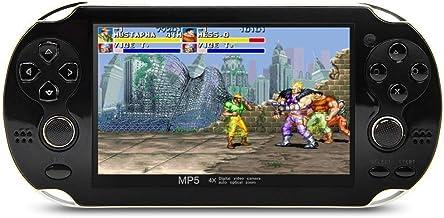 CZT 4.3 pulgadas consola de video portátil de 8GB 64Bit Consola de videojuegos incorporada 1200 juegos Soporte para Arcade NEOGEO/CPS/FC/SFC/GB/GBC/GBA/SMC/SMD/SEGA Juegos MP3 MP5 Player Camera