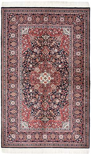 Nain Trading China Keshan Seide 217x135 Orientteppich Teppich Rot/Rosa Handgeknüpft China