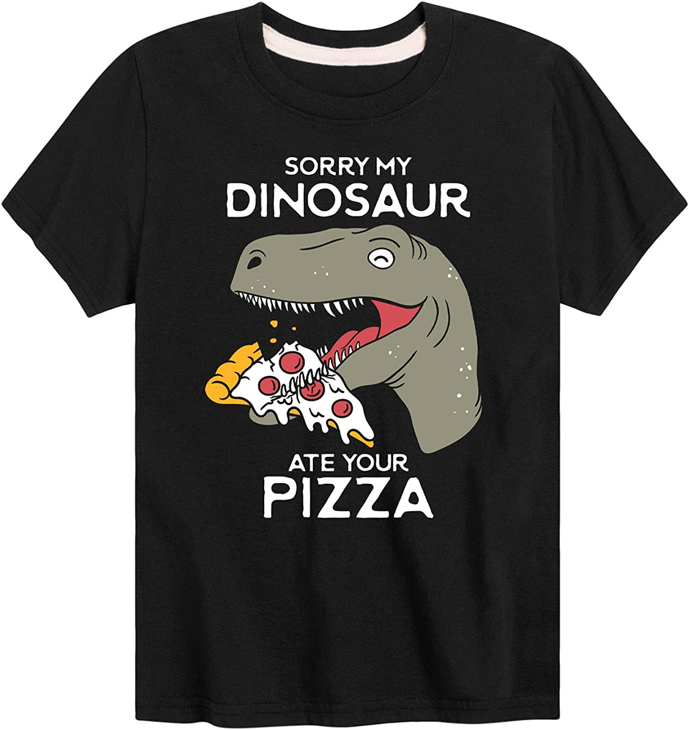 Instant Message Sorry My Dinosaur Ate Your Pizza - Toddler and Youth Short Sleeve T-Shirt