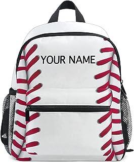Custom Preschool Backpack, Personalized Backpack with Name Customization Baseball School Backpack