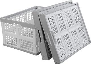 Kiddream Set of 3 Plastic Collapsible Storage Basket Folding Bin (30 Liter)