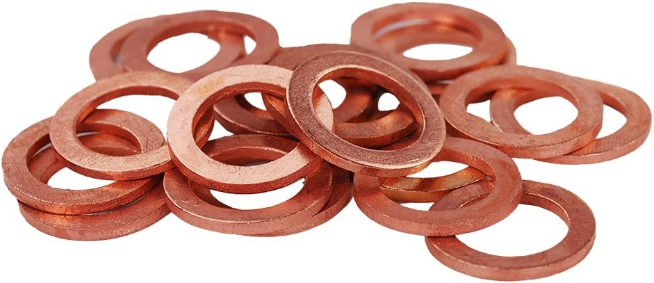 HIFROM 25pcs M12 Copper Washers Flat San Antonio Product Mall Plug Seal Oil Gas Ring Sump