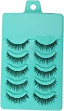 Generic, Fibre Fashion Beauty Makeup Handmade False Eyelashes Messy Cross Style for Women, (White)-5 Pairs