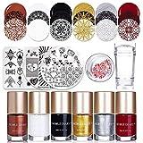 NICOLE DIARY 6 Flaschen Stamping polnischen Nail Art Lack 3Pcs