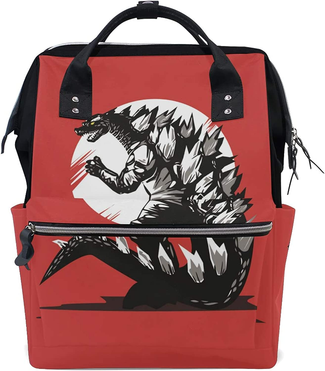 MONTOJ Vicious Godzilla Drawing Canvas Travel Bag Campus