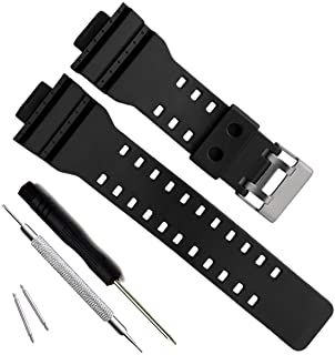 OliBoPo Natural Resin Replacement Watch Band Strap for Casio Mens G-Shock GD120/GA-100/GA-110/GA-100C