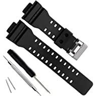 OliBoPo Natural Resin Replacement Watch Band Strap for Casio Mens G-Shock...