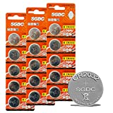 CR2032 3V Lithium Battery, Coin Button Batteries for Toys Calculators Watches Pulse Oximeter, 15 Count