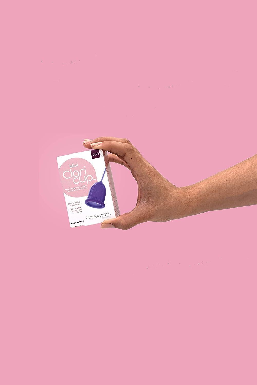 claripharm Copa Menstrual claricup silicona médico antimicrobiano incluida con su caja de transporte/de desinfección