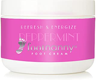 Footnanny - Peppermint Foot Cream - Soothes Cracked Heels and Dead Skin with an Old Fashion, Invigorating Formula