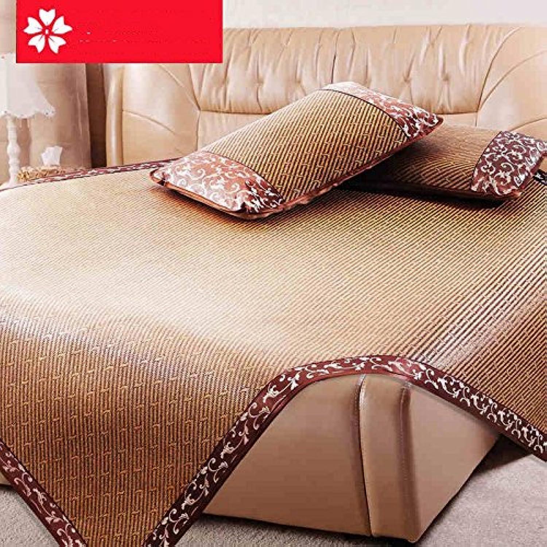 Uus Lit de Matte de rougein Naturel été Mat Type de Pliage Feuille de lit Simple Double Simmons Drap de Matelas (Taille   1.35m (4.5 Feet))