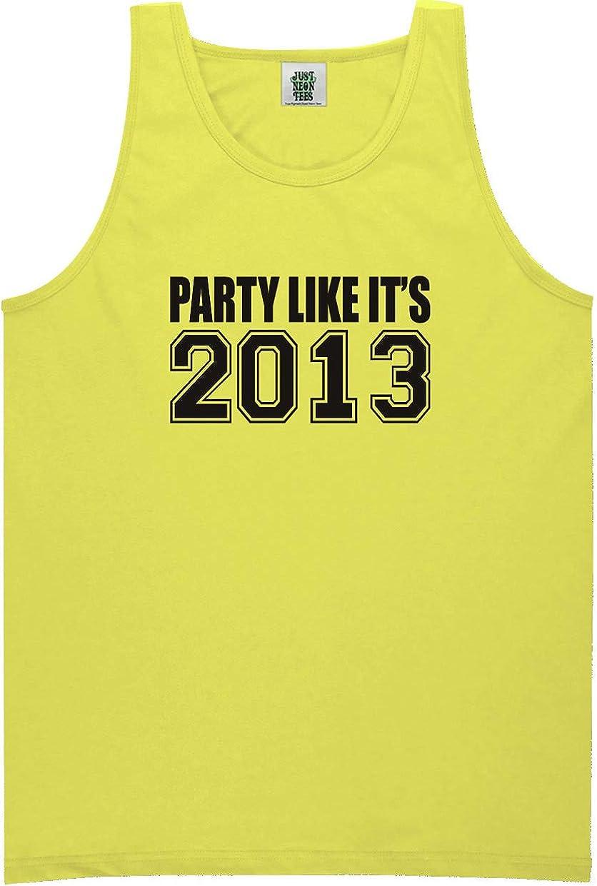 zerogravitee Party Like It's 2013 Bright Neon Tank Top