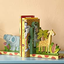 Fantasy Fields – Sunny Safari Animals Thematic Set of 2 Sturdy Wooden Bookends for..