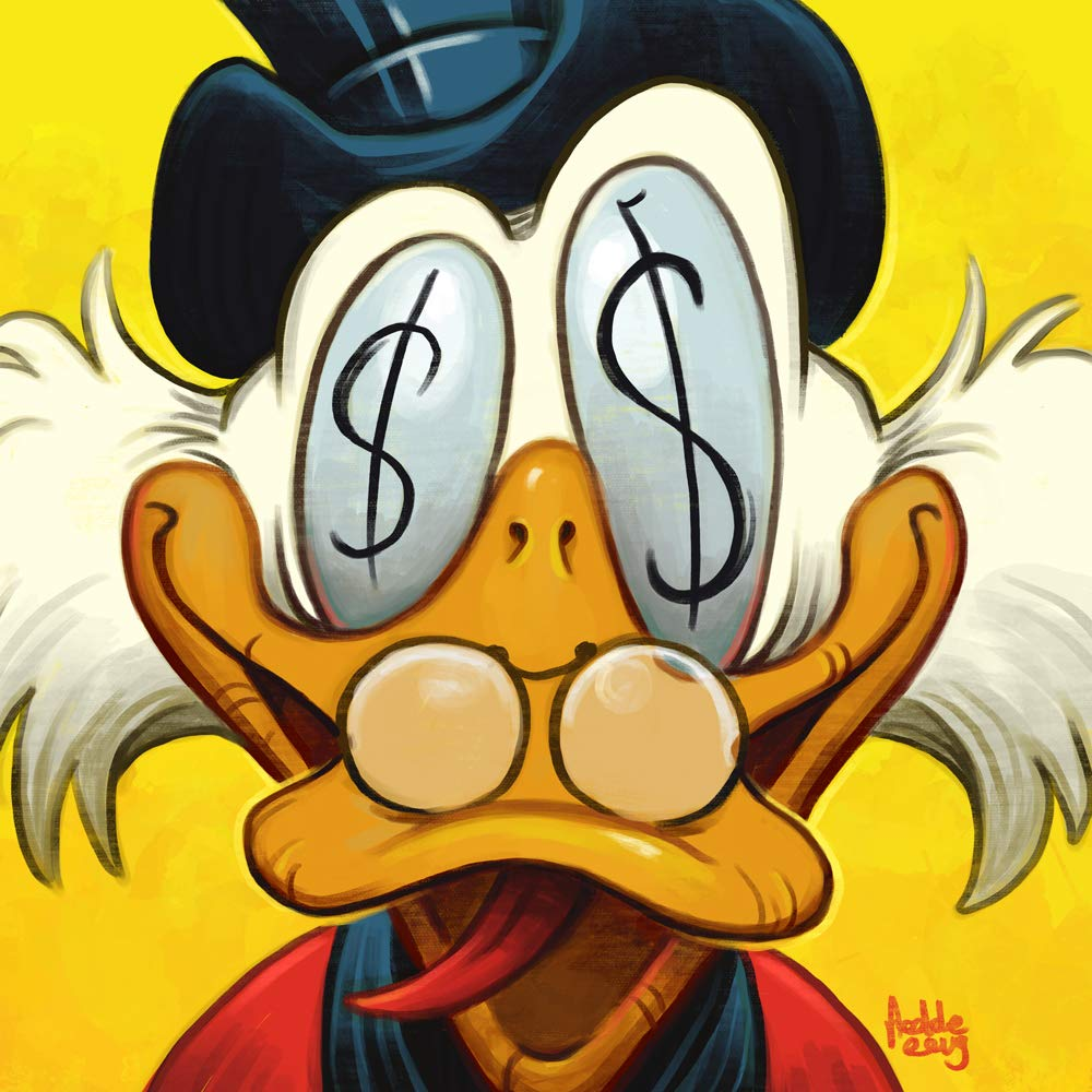 Fees free!! Uncle Scrooge Luxury McDuck poster wall ha pictures