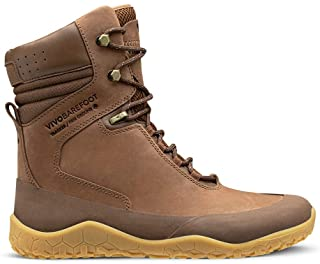 Vivobarefoot Tracker Hi Fg, Womens Leather Hiking Boot with Barefoot Firm Ground Sole & Thermal Protection