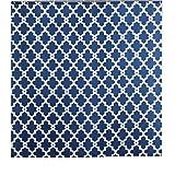 Sfoothome géométrique Motif imprimé, la moisissure et étanche Tissu Polyester Rideau de Douche pour Salle de Bain, Tissu, Bleu...