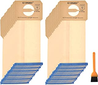 EZ SPARES 30 Pcs Replacements for Electrolux Upright Vacuum Cleaner Style U Electrolux Type U Bags,Paper Dust Bag,Made of ...