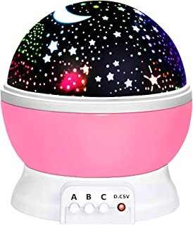 Birthday Gifts Presents for 2-10 Year Old Girls, Wonderful Romantic Starlight for Kids Toys for 2-10 Year Old Boys Xmas Gifts for 2-10 Year Old Boys Stocking Stuffers Stocking Fillers Pink TSUKXK03
