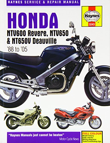 Honda NTV600 Revere, NTV650 and NTV650V Deauville Service and Repair Manual: 1988 to 2005 (Haynes Service and Repair Manuals)