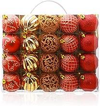 20 Piece Set Christmas Ball Christmas Tree Pendant Christmas Ball Pendant Red Gold