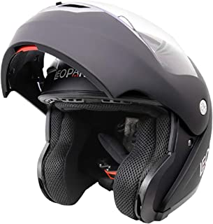 Leopard LEO-727 BL-A4 Anti-fog Visor Flip up Motorbike Bluetooth Helmet Motorcycle Dual-Speaker Headset,Hands-Free,Noise-Free,Automatic Answering,Double Visor