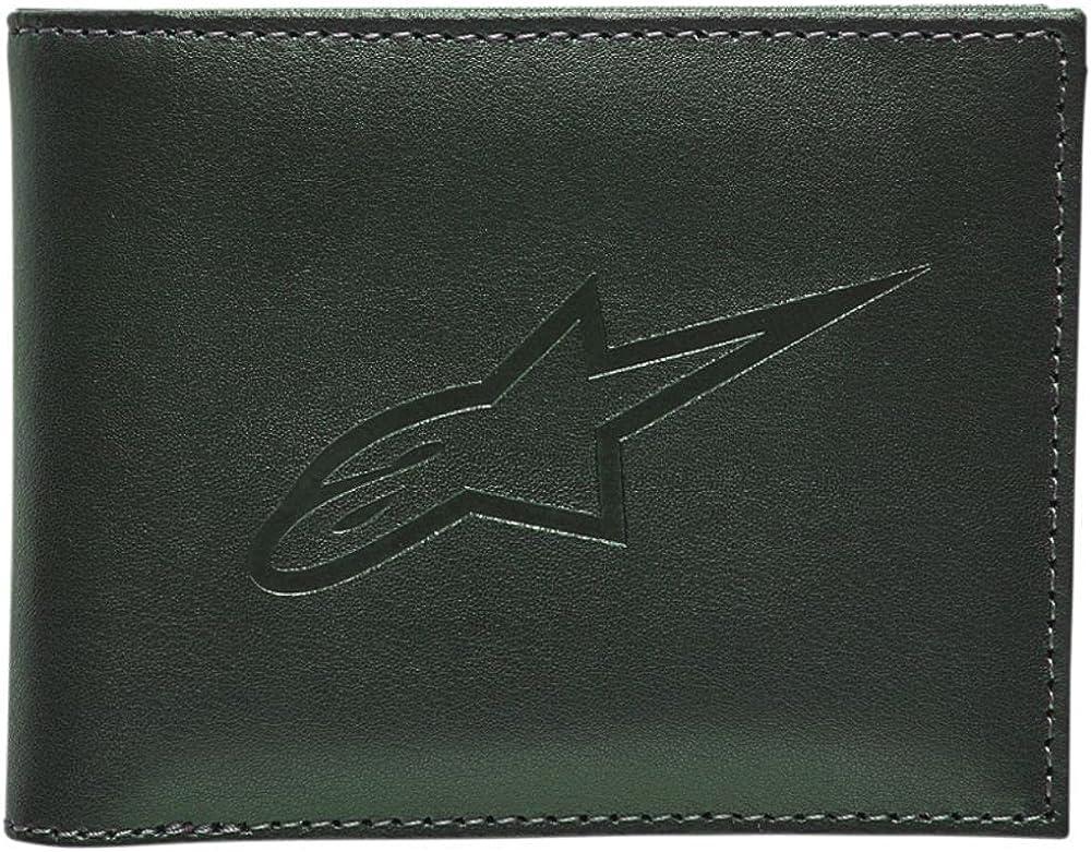 Alpinestars Men's Ageless Bifold Leather Wallets,One Size,Green
